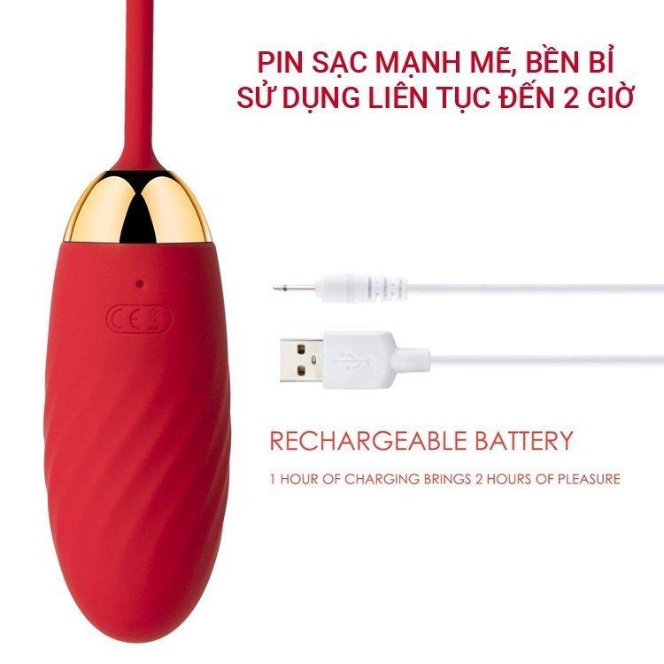 Trứng rung Svakom Ella kết nối smart phone pin sặc cổng USB.