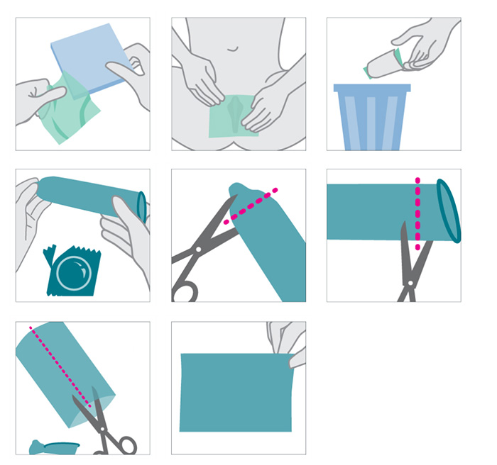 cách tự chế màng chắn miệng từ bao cao su