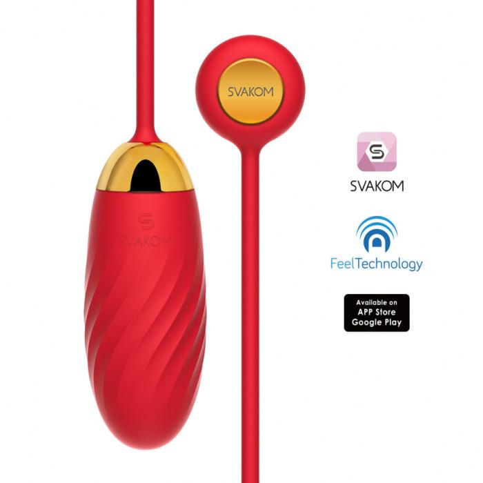 trứng rung thông minh Svakom Ella NEO cao cấp chính hãng của Mỹ sử dụng app điều khiển qua smartphone