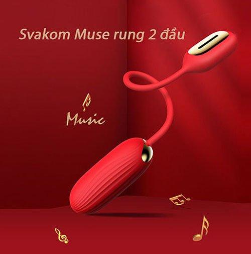 Trứng rung tình yêu 2 đầu Svakom Muse có thiết kệ cực xinh xắn